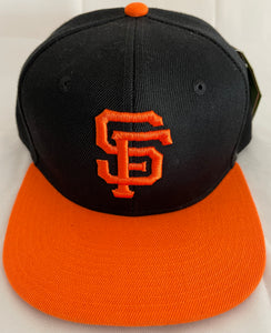 SAN FRANCISCO GIANTS ORANGE & BLACK SNAPBACK BASEBALL HAT