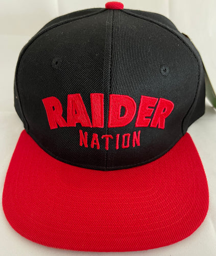 RAIDER NATION BLACK & RED SNAP BACK BASEBALL HAT