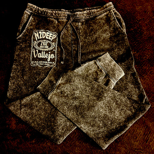 N2DEEP VALLEJO CALIFORNIA MINERAL WASH FLEECE SWEATS (New) OFFICIAL TOUR GEAR