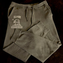 MILLIONAIRE MENTALITY CALIFORNIA BEAR GREY WASH FLEECE SWEATS (New)