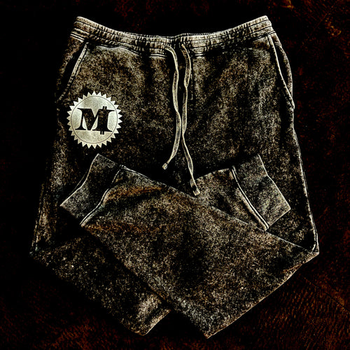 MILLIONAIRE MENTALITY M LOGO MINERAL WASH FLEECE SWEATS (New)
