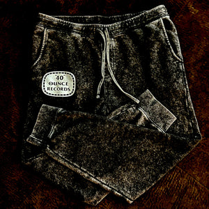 40 OUNCE RECORDS MINERAL WASH FLEECE SWEATS (New) OFFICIAL TOUR GEAR