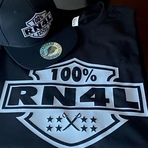 100% RN4L RAIDER NATION 4 LIFE BLACK T-SHIRT & HAT PLAYER PACK (LIMITED EDITION) RAIDER NATION EDITION