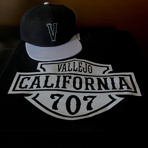 VALLEJO CALIFORNIA HD BLACK T-SHIRT & HAT PLAYER PACK (LIMITED EDITION) 707 EDITION
