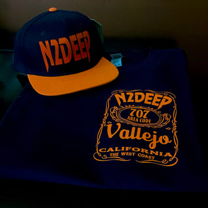 N2DEEP BLACK & ORANGE T-SHIRT & HAT PLAYER PACK (LIMITED EDITION)