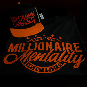 MILLIONAIRE MENTALITY CLOTHING CO. LOGO PLAYER PACK (LIMITED EDITION) BLACK & ORANGE
