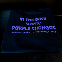 N2DEEP - FRONT & BACK PRINT BLACK & PURPLE T-SHIRT (LIMITED EDITION) PURPLE CHONGO EDITION