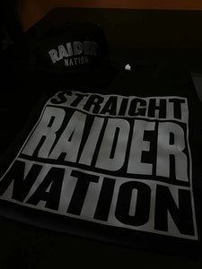STRAIGHT RAIDER NATION BLACK T-SHIRT & HAT PLAYER PACK (LIMITED EDITION) 707 EDITION