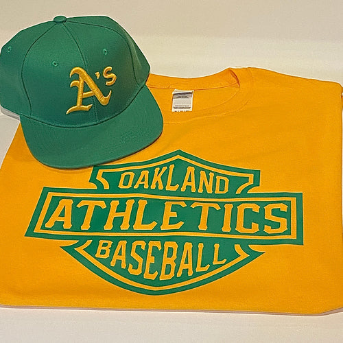 OAKLAND A'S GREEN T-SHIRT & HAT PLAYER PACK (LIMITED EDITION) OAKLAND ATHLETICS EDITION