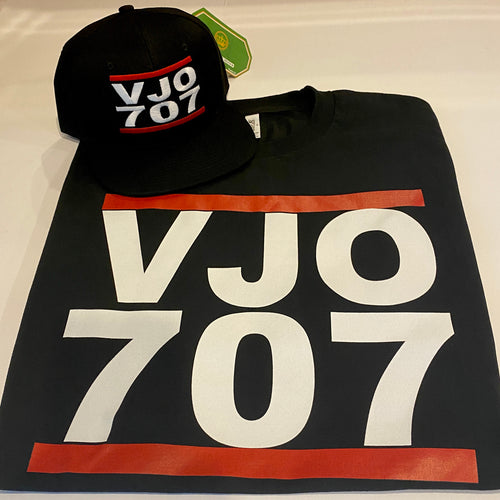 VJO 707  BLACK T-SHIRT & HAT PLAYER PACK (LIMITED EDITION) 707 EDITION