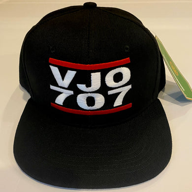 VJO 707 BLACK SNAP BACK BASEBALL HAT