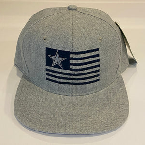 DALLAS COWBOYS GREY SNAP BACK BASEBALL HAT