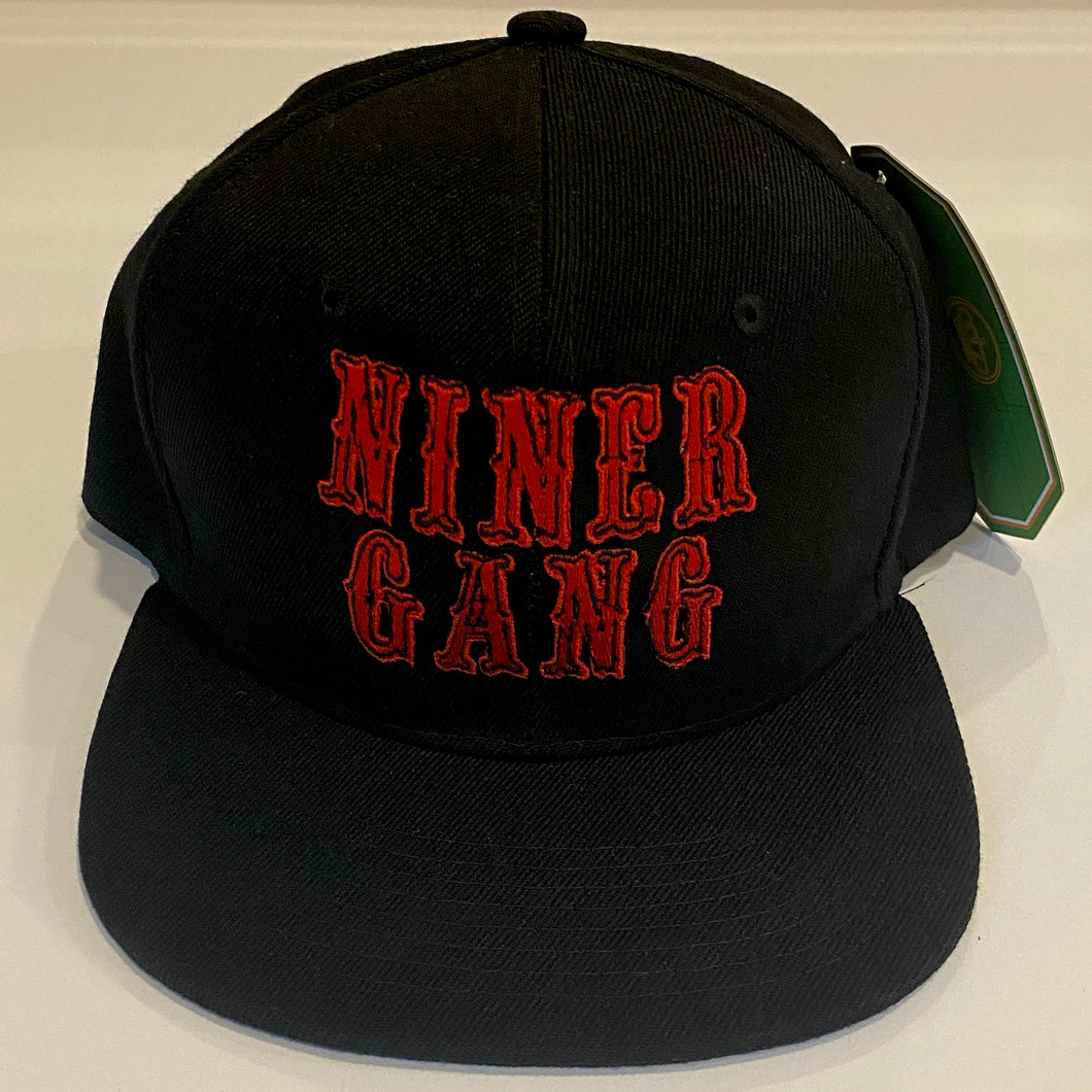 NINER GANG BLACK SNAP BACK BASEBALL HAT