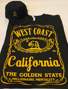 WEST COAST CALIFORNIA BLACK & GOLD T-SHIRT & HAT PLAYER PACK (LIMITED EDITION)