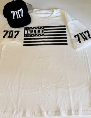VALLEJO 707 FLAG WHITE T-SHIRT & HAT PLAYER PACK (LIMITED EDITION)