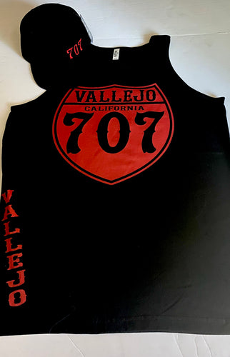 VALLEJO CALIFORNIA 707 BLACK TANK TOP (LIMITED EDITION)
