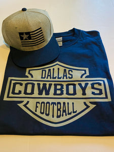DALLAS COWBOYS BLUE T-SHIRT & HAT PLAYER PACK (LIMITED EDITION) DALLAS COWBOYS EDITION