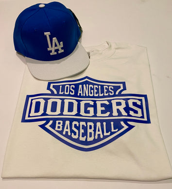 DODGERS WHITE T-SHIRT & HAT PLAYER PACK (LIMITED EDITION) LOS ANGELES EDITION