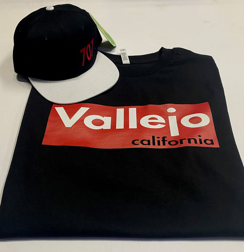 VALLEJO CALIFORNIA  BLACK T-SHIRT & HAT PLAYER PACK (LIMITED EDITION) SUPREME EDITION
