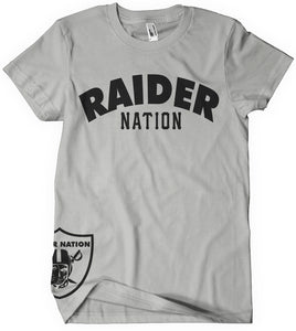 KIDS RAIDER NATION GREY T-SHIRT (LIMITED EDITION) OAKLAND RAIDERS EDITION