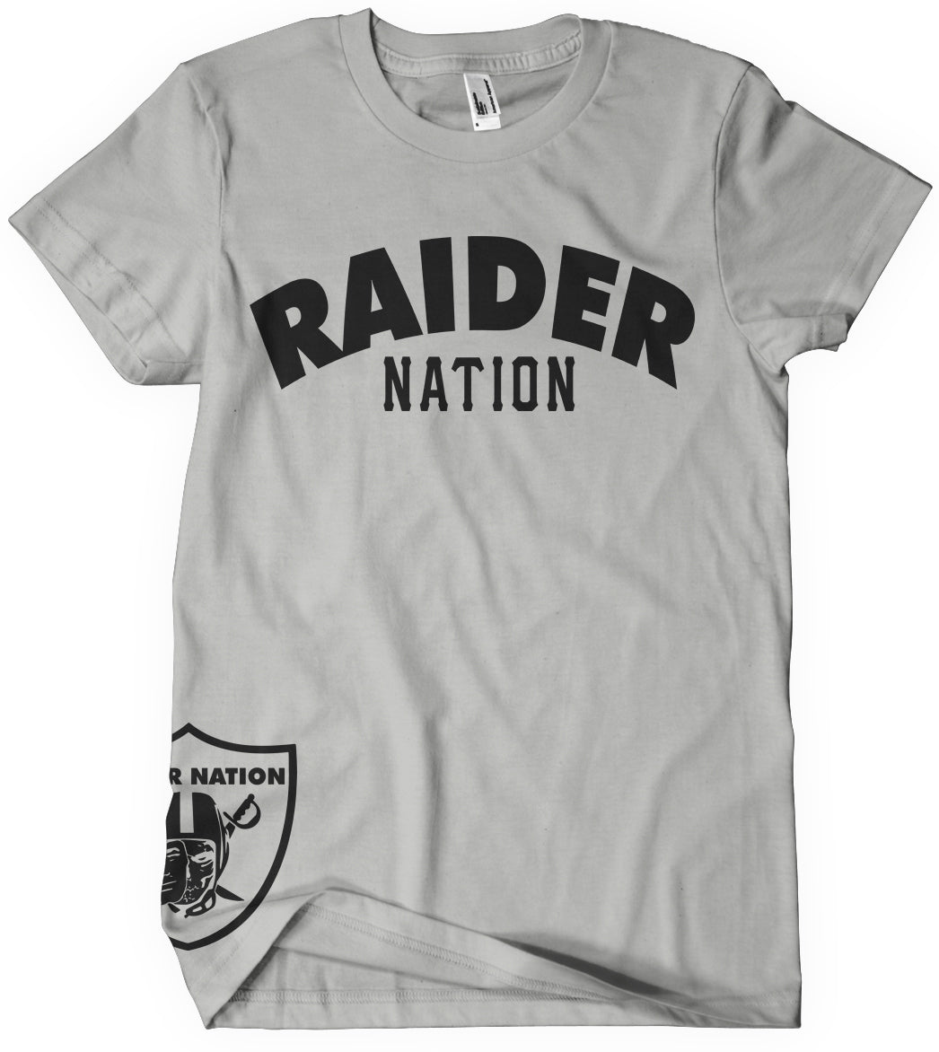 4b029ca8 KIDS RAIDER NATION GREY T-SHIRT (NEW) OAKLAND RAIDERS EDITION ...