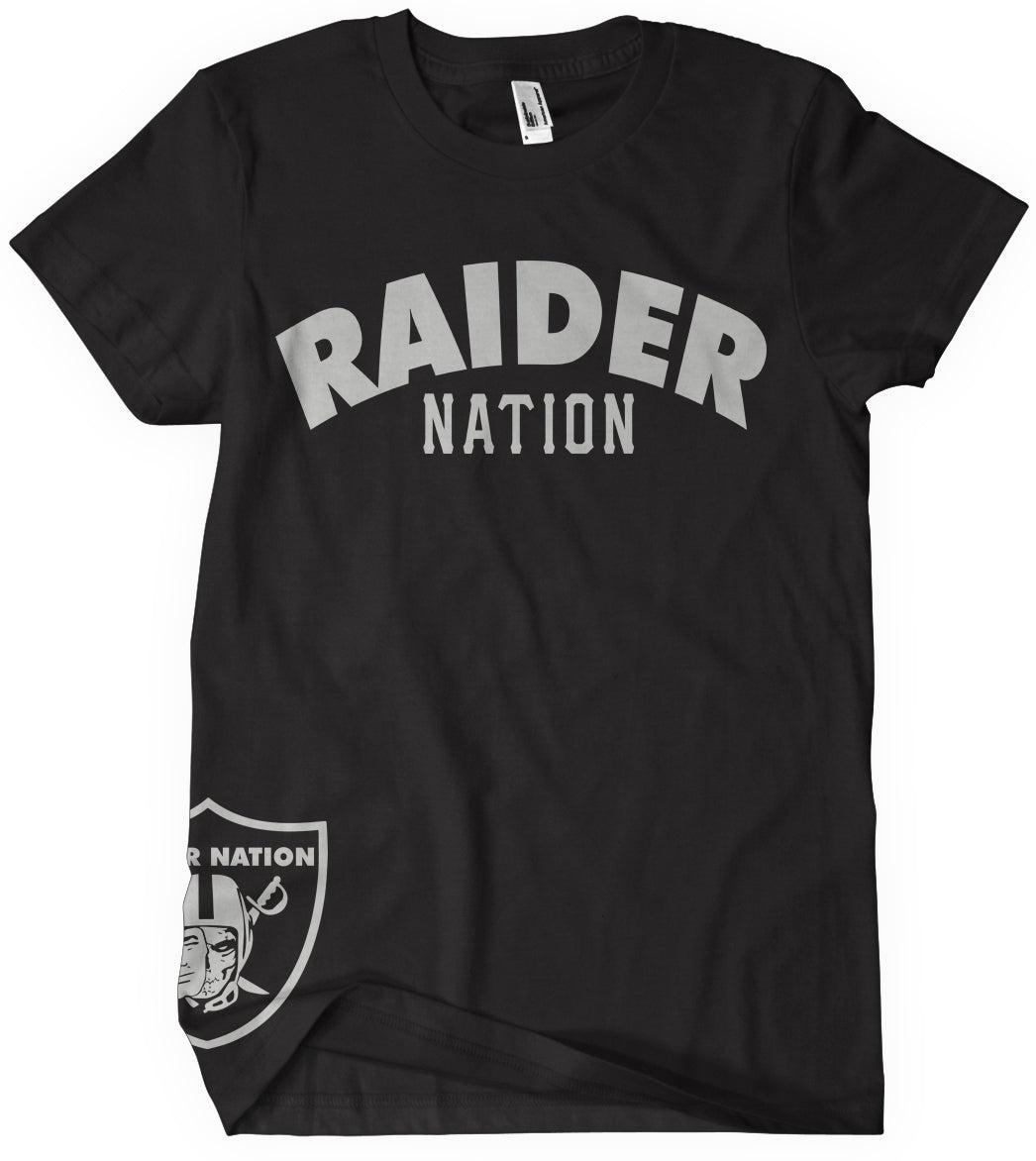 a5400498 KIDS RAIDER NATION BLACK T-SHIRT (NEW) OAKLAND RAIDERS EDITION ...