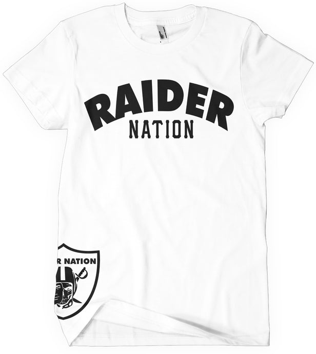 KIDS RAIDER NATION WHITE T-SHIRT (LIMITED EDITION) OAKLAND RAIDERS EDITION