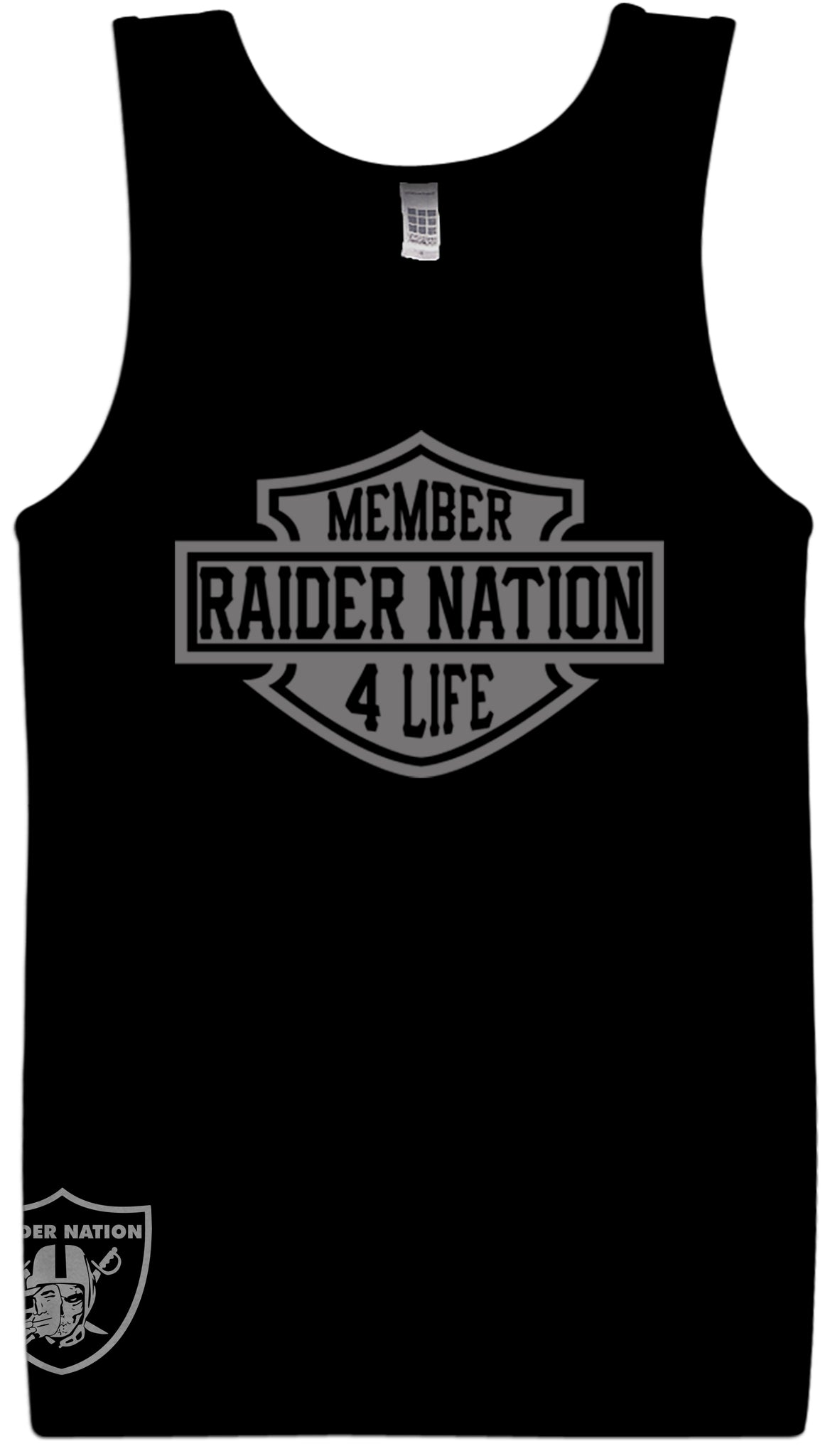 sneakers for cheap 4a179 41f6d MEMBER RAIDER NATION4 LIFE BLACK TANK TOP (LIMITED EDITION) OAKLAND RAIDERS