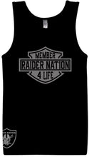 MEMBER RAIDER NATION4 LIFE BLACK TANK TOP (LIMITED EDITION) OAKLAND RAIDERS