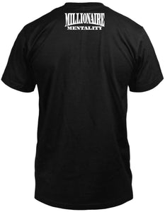 HUSTLER 24-7-365 ELEMENT BLACK T-SHIRT (LIMITED EDITION) MILLIONAIRE MENTALITY EDITION