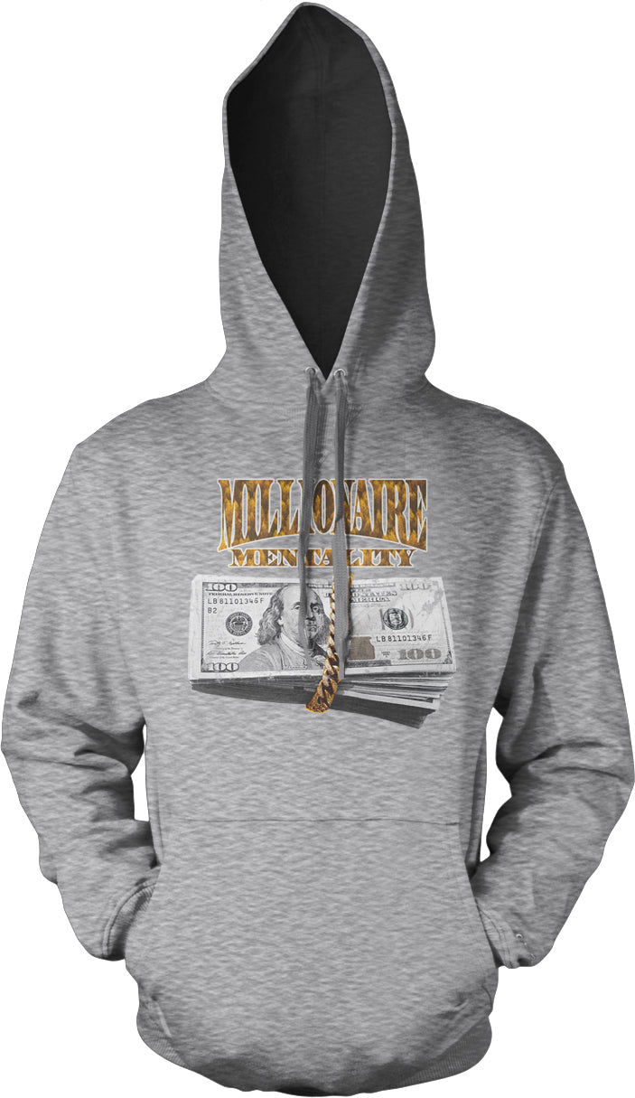 MILLIONAIRE MENTALITY GOLD WRAP GREY HOODIE (LIMITED EDITION)