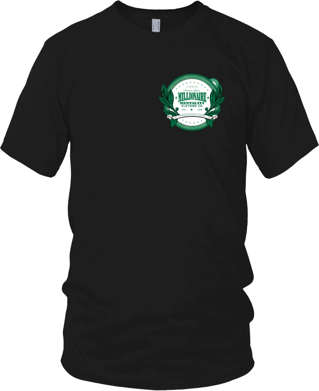 MILLIONAIRE MENTALITY CLOTHING CO. LOGO (LIMITED EDITION) GREEN & WHITE