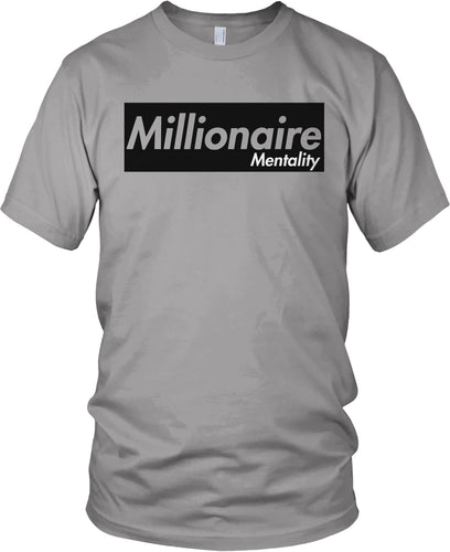 MILLIONAIRE MENTALITY GREY T-SHIRT (LIMITED EDITION)