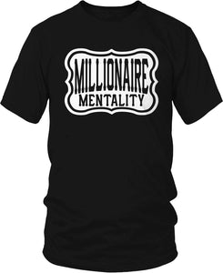 MILLIONAIRE MENTALITY ORIGINAL LOGO BLACK T-SHIRT (LIMITED EDITION)