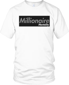 MILLIONAIRE MENTALITY WHITE T-SHIRT (LIMITED EDITION)