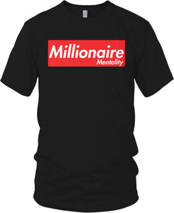 MILLIONAIRE MENTALITY BLACK T-SHIRT (LIMITED EDITION)