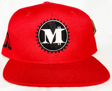 M LOGO SNAP BACK RED, BLACK & WHITE BASEBALL HAT