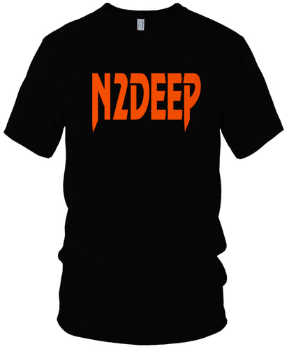 N2DEEP TOSS UP BLACK & ORANGE T-SHIRT (LIMITED EDITION)