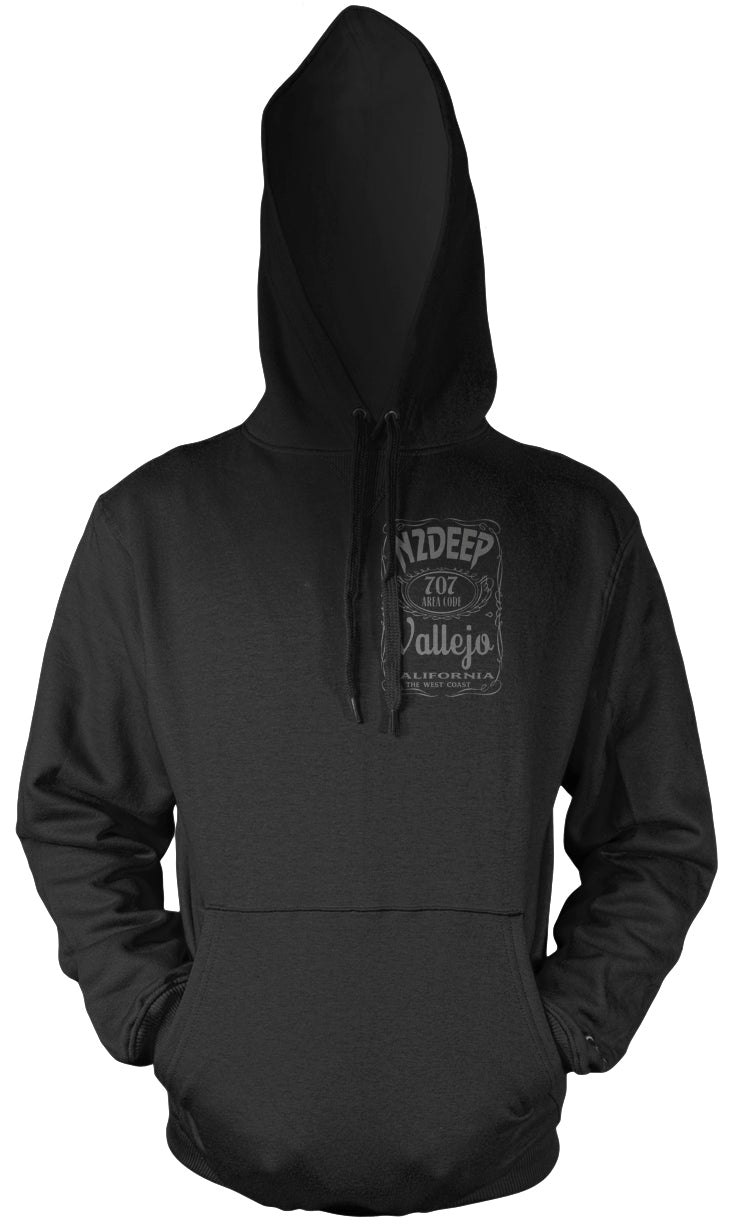 N2DEEP 2 TALL CANS BLACK HOODIE (NEW) JAY TEE EDITION