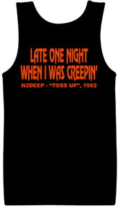 N2DEEP TOSS UP BLACK & ORANGE TANK TOP(LIMITED EDITION)