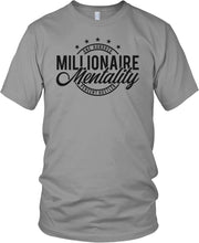 MILLIONAIRE MENTALITY ONE HUNDRED PERCENT HUSTLER GREY T-SHIRT (LIMITED EDITION)