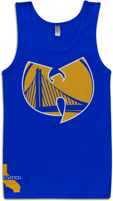DUB NATION WU TANG BLUE TANK TOP (LIMITED EDITION) GOLDEN STATE WARRIORS EDITION