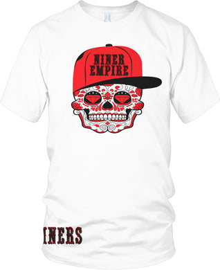 NINER EMPIRE CANDY SKULL T-SHIRT (LIMITED EDITION) SAN FRANCISCO 49ERS EDITION