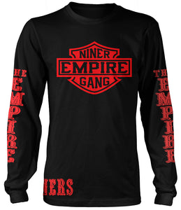 NINER EMPIRE GANG LONG SLEEVE BLACK T-SHIRT (LIMITED EDITION) SAN FRANCISCO 49ERS EDITION