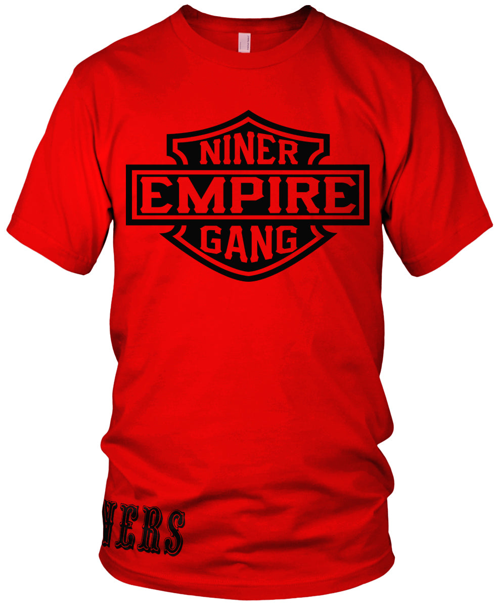 39ee86f0ba6 NINER EMPIRE GANG RED T-SHIRT (LIMITED EDITION) SAN FRANCISCO 49ERS EDITION  ...