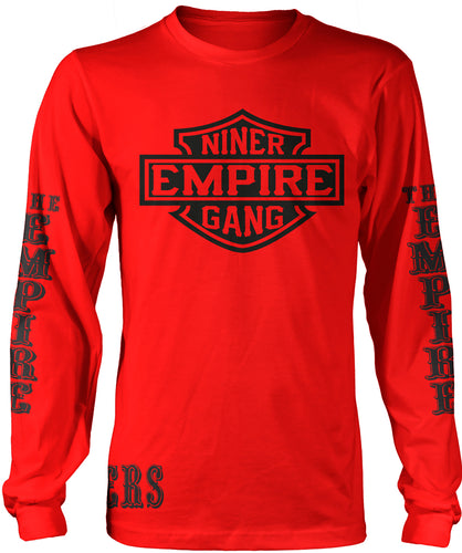 NINER EMPIRE LONG SLEEVE RED & BLACK LONG SLEEVE T-SHIRT (LIMITED EDITION) SAN FRANCISCO 49ERS EDITION