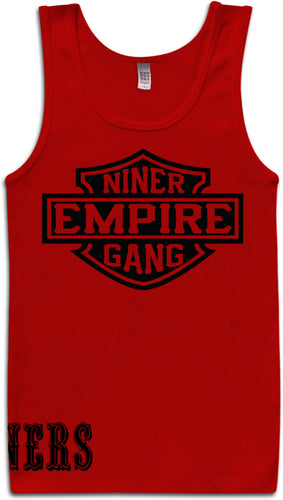 NINER EMPIRE GANG RED TANK TOP (LIMITED EDITION) SAN FRANCISCO EDITION