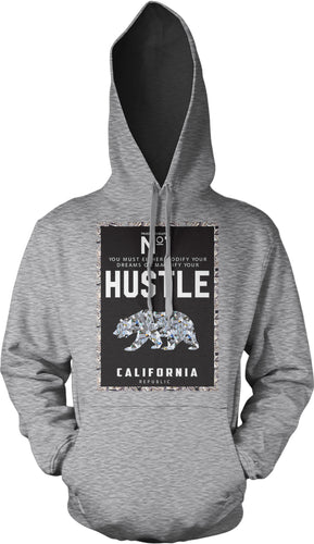 NO. 1 HUSTLE CALIFORNIA GREY HOODIE (LIMITED EDITION)