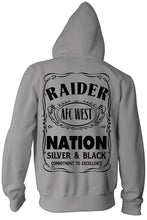RAIDER NATION SILVER & BLACK ZIP UP HOODIE (NEW) OAKLAND RAIDERS EDITION