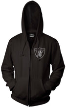 RAIDER NATION BLACK & SILVER ZIP UP HOODIE (NEW) OAKLAND RAIDERS EDITION